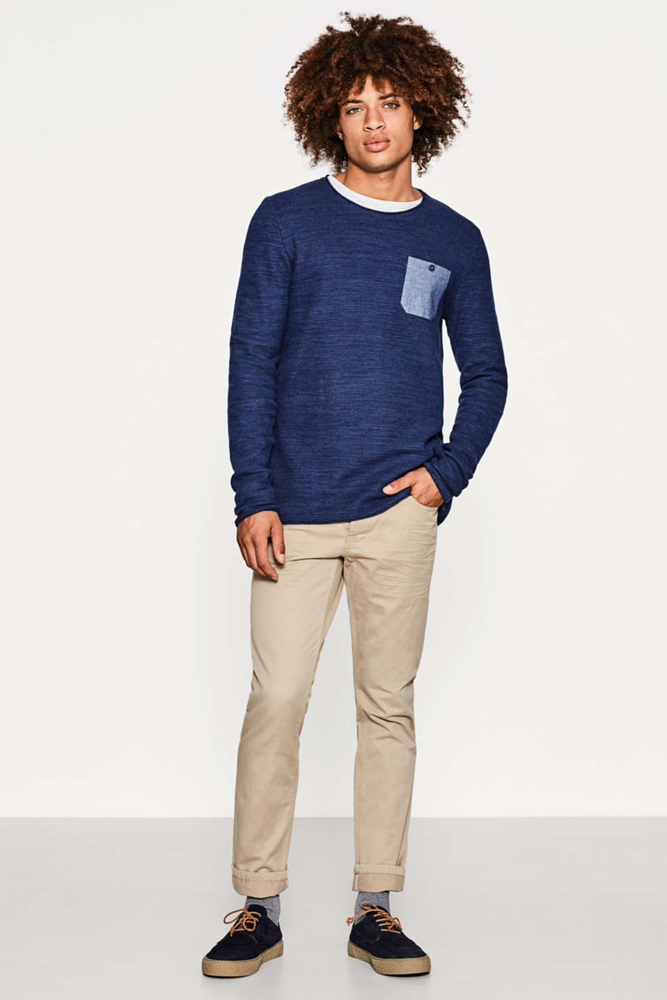Knitted jumper in 100% cotton