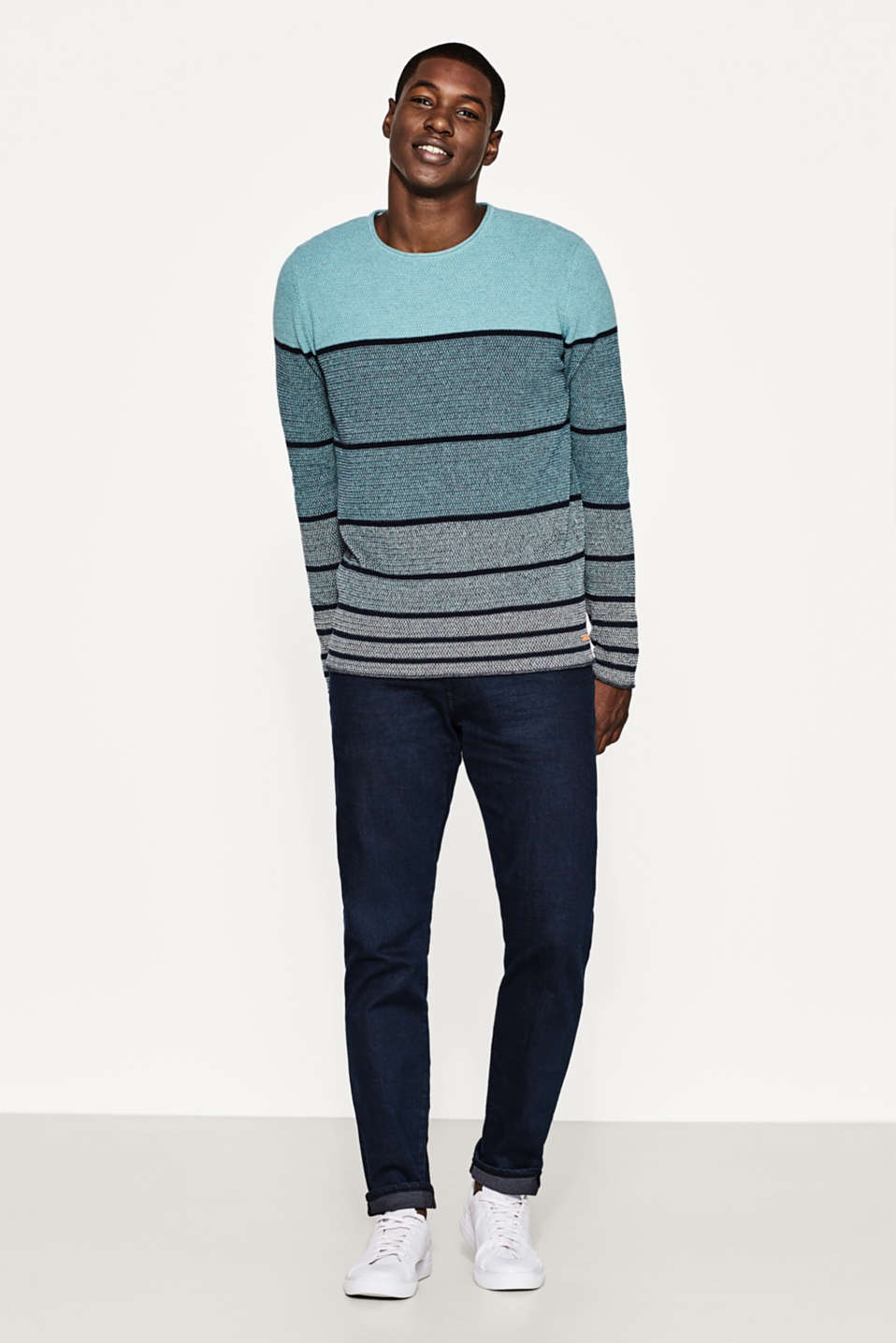 Striped jumper in cotton