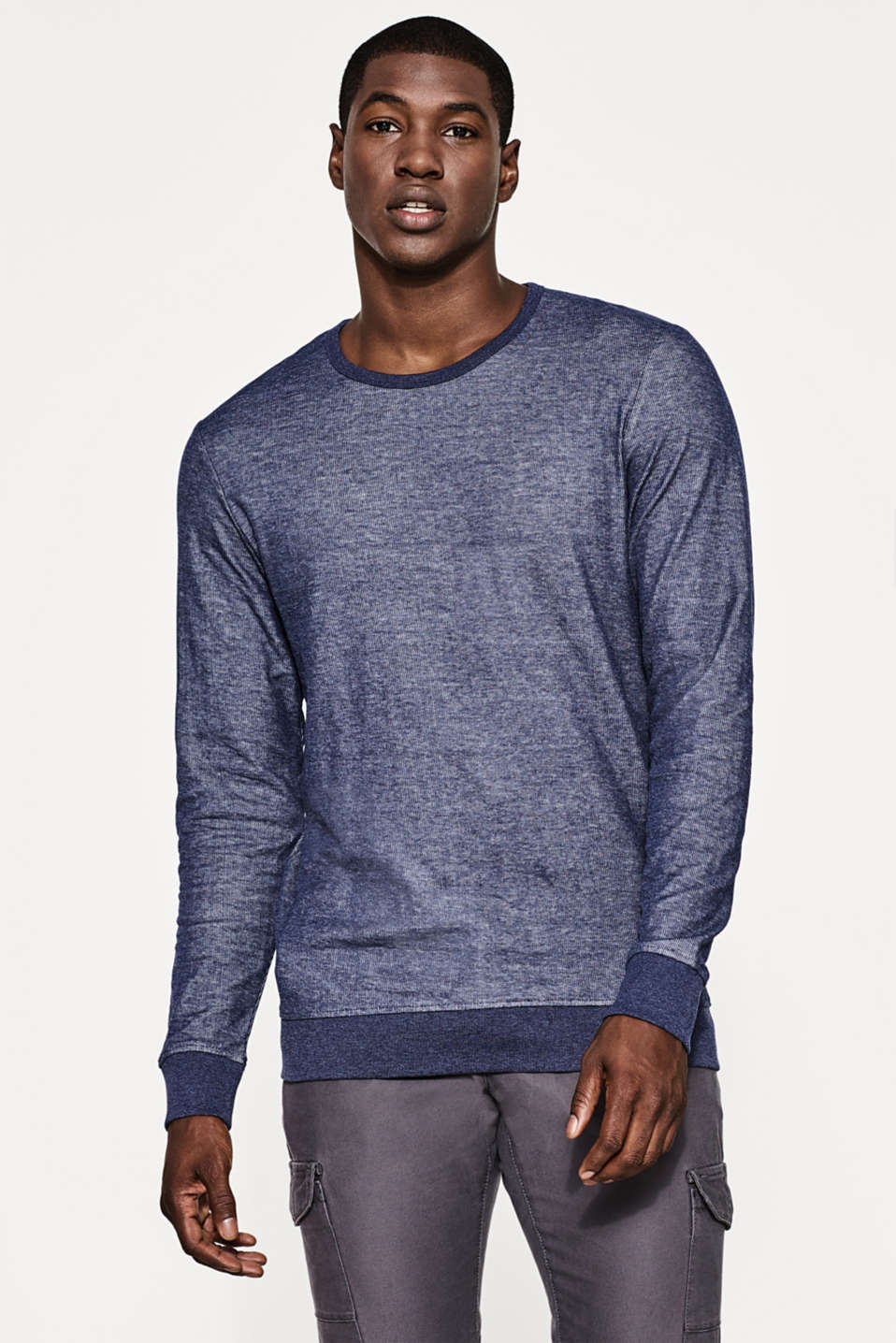 edc - Ribbed cotton long sleeve top