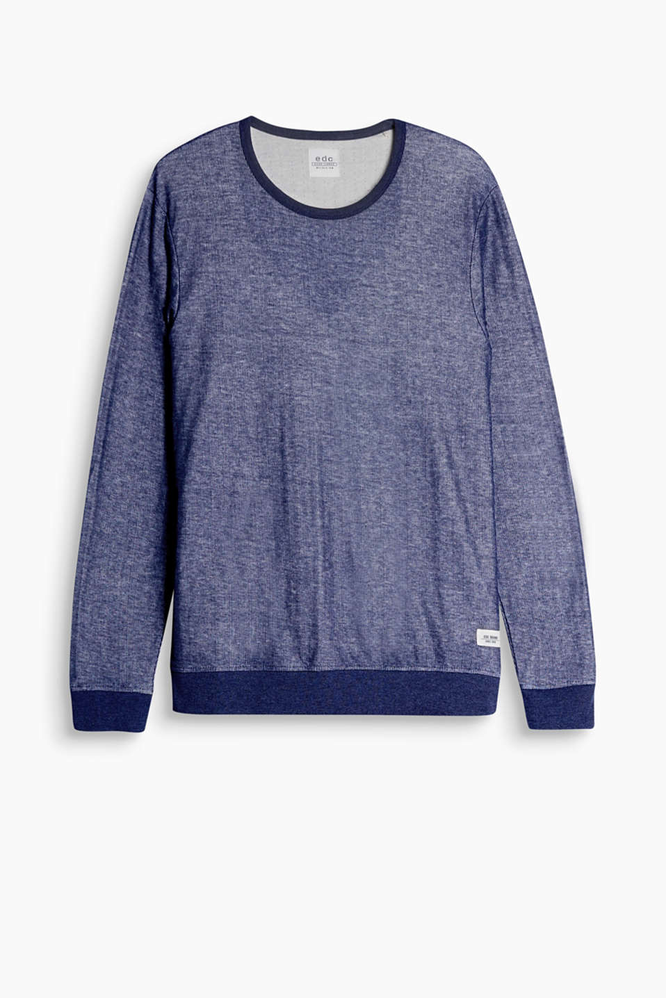 A fashion essential: sporty long sleeve top in ribbed jersey!