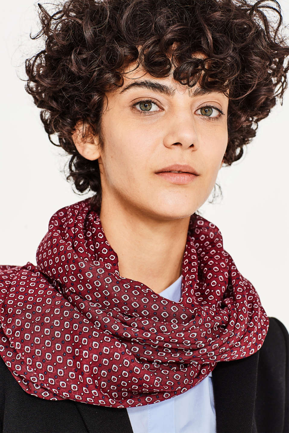 Snood with an all-over print