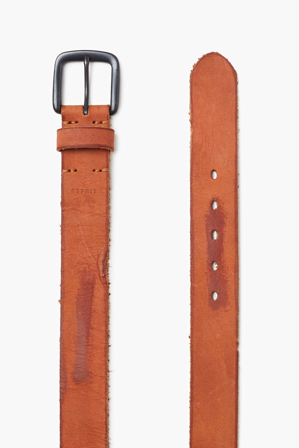 Nubuck leather in a vintage finish and a distinctive metal buckle – the perfect belt for urban denim looks!