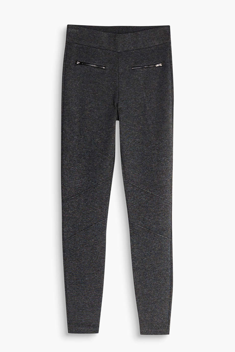 So comfortable, like a pair of yoga trousers, yet look smart: Jersey leggings with decorative zips