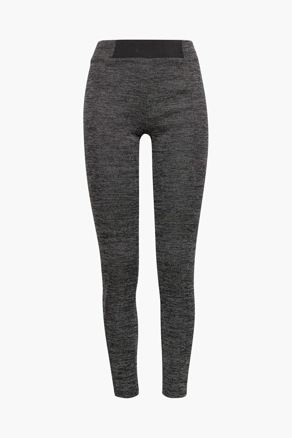 A modern interpretation of the classic herringbone pattern: these leggings offer a new look and exceptional comfort!