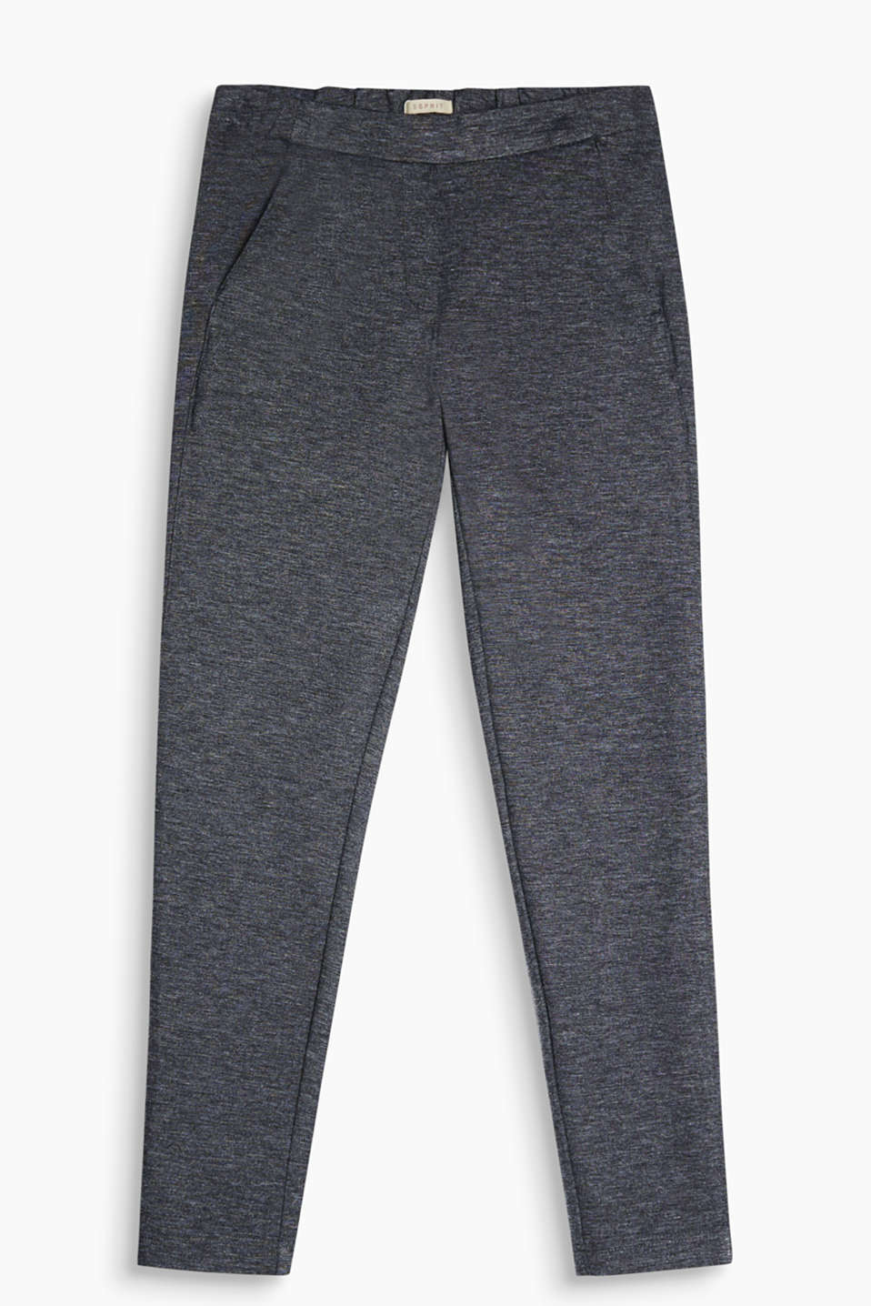 These melange bottoms in a trendy tracksuit style are super comfortable while also creating a smart look