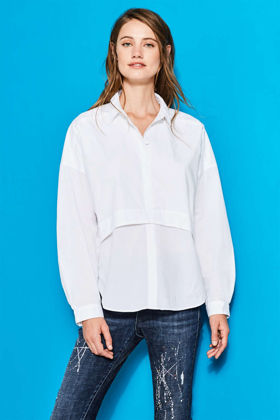 Esprit - Oversized blouse, 100% cotton
