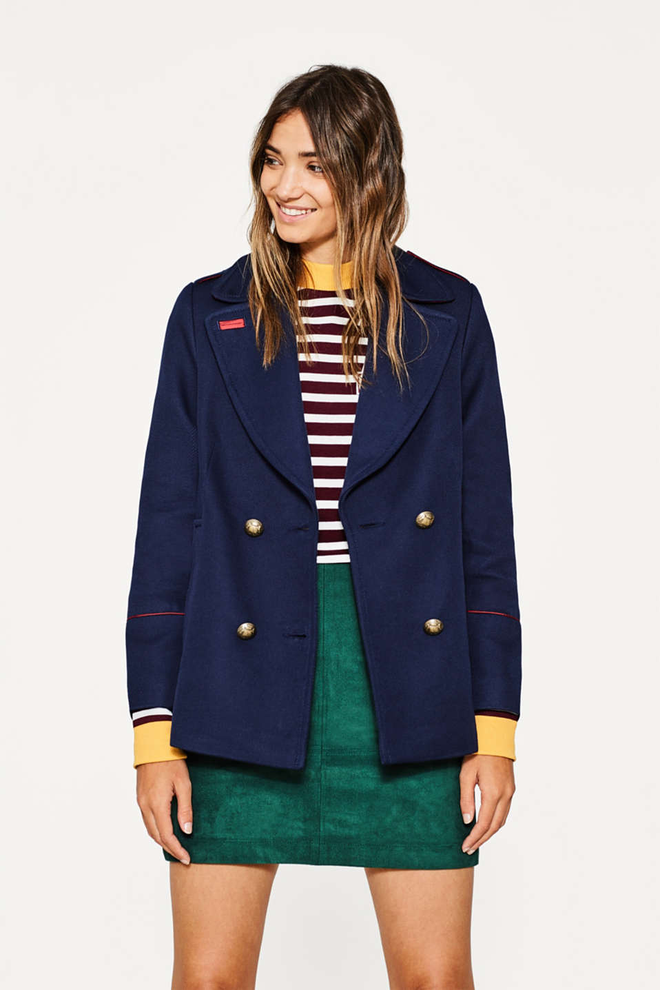 Esprit - A-line cotton pea jacket