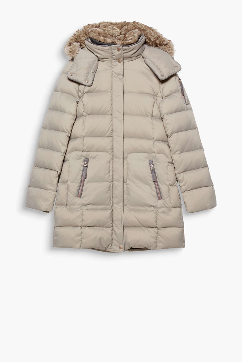 This fitted, functional coat with RDS-certified down/feather filling is a real all-rounder!