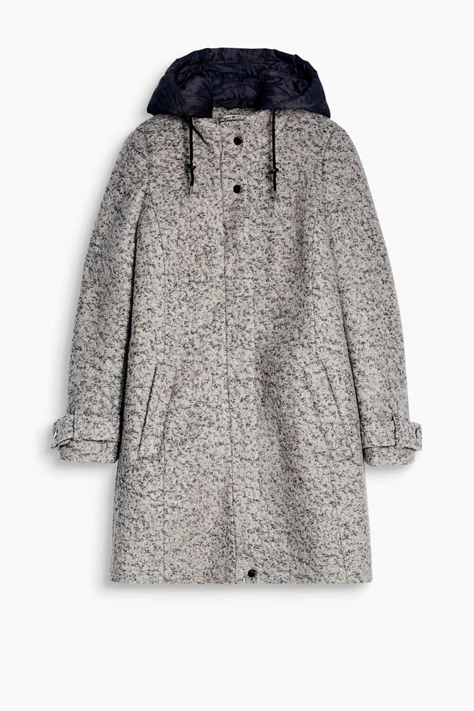 Black boucle coat next