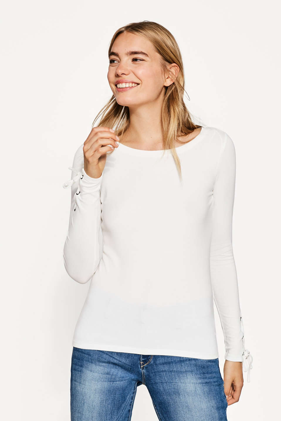 Esprit - Long sleeve stretch cotton top