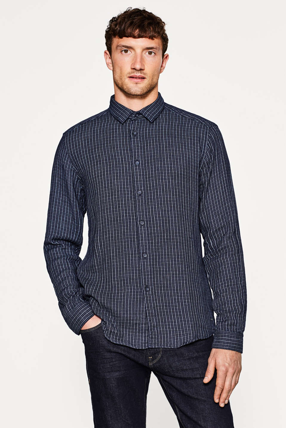 Esprit - Prince of Wales check shirt in 100% cotton