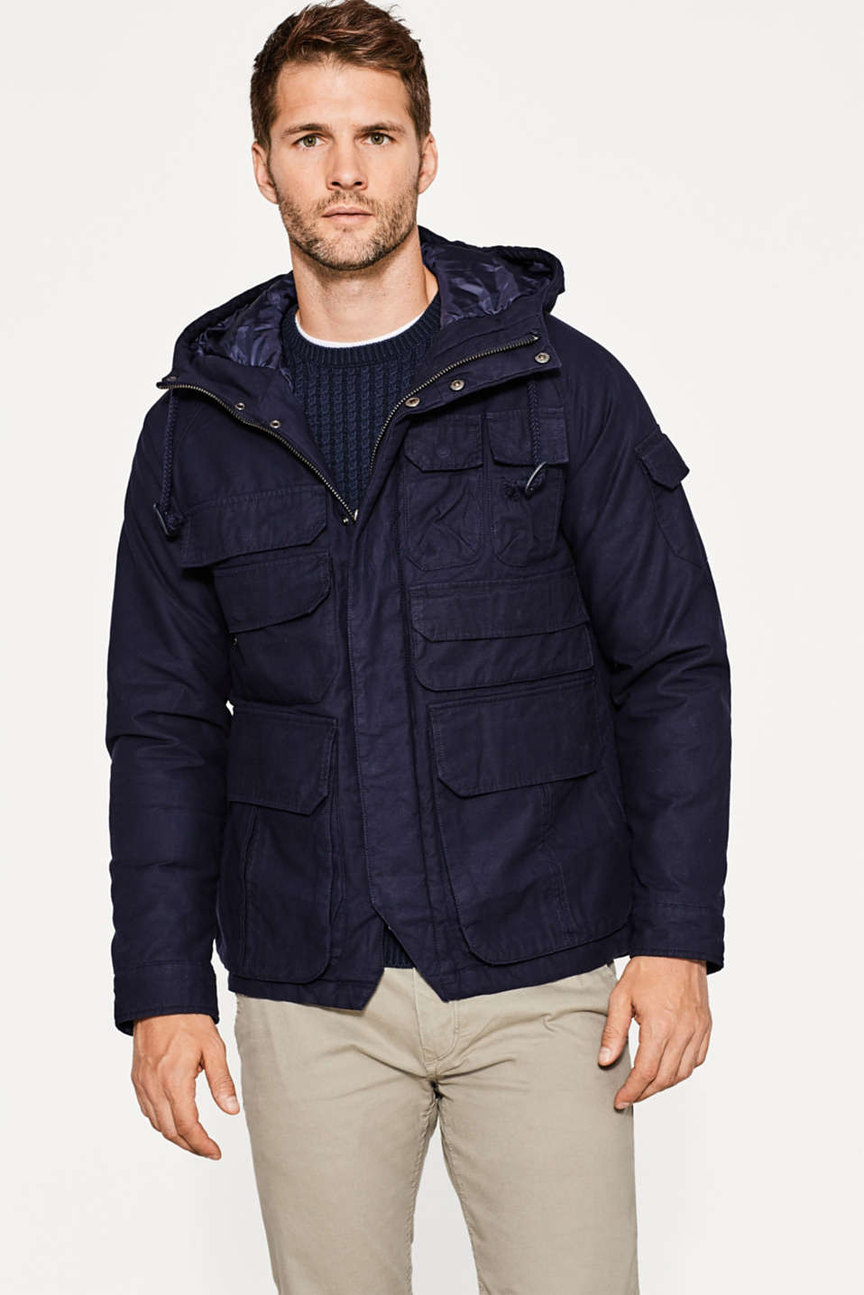 Esprit - Light jacket made of pure cotton