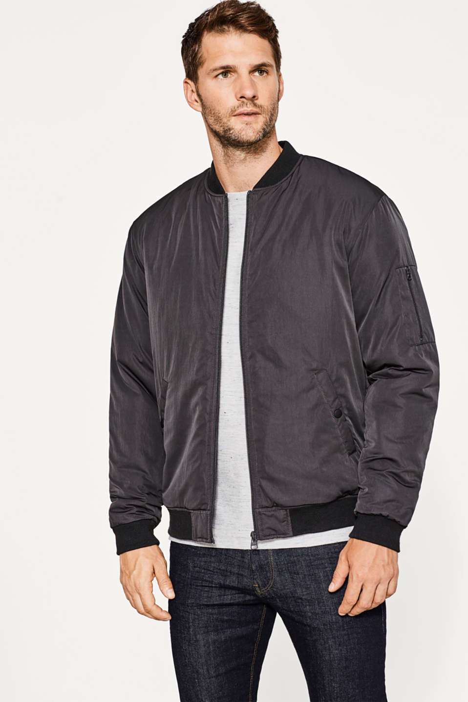 Esprit - Urban bomber jacket with padding