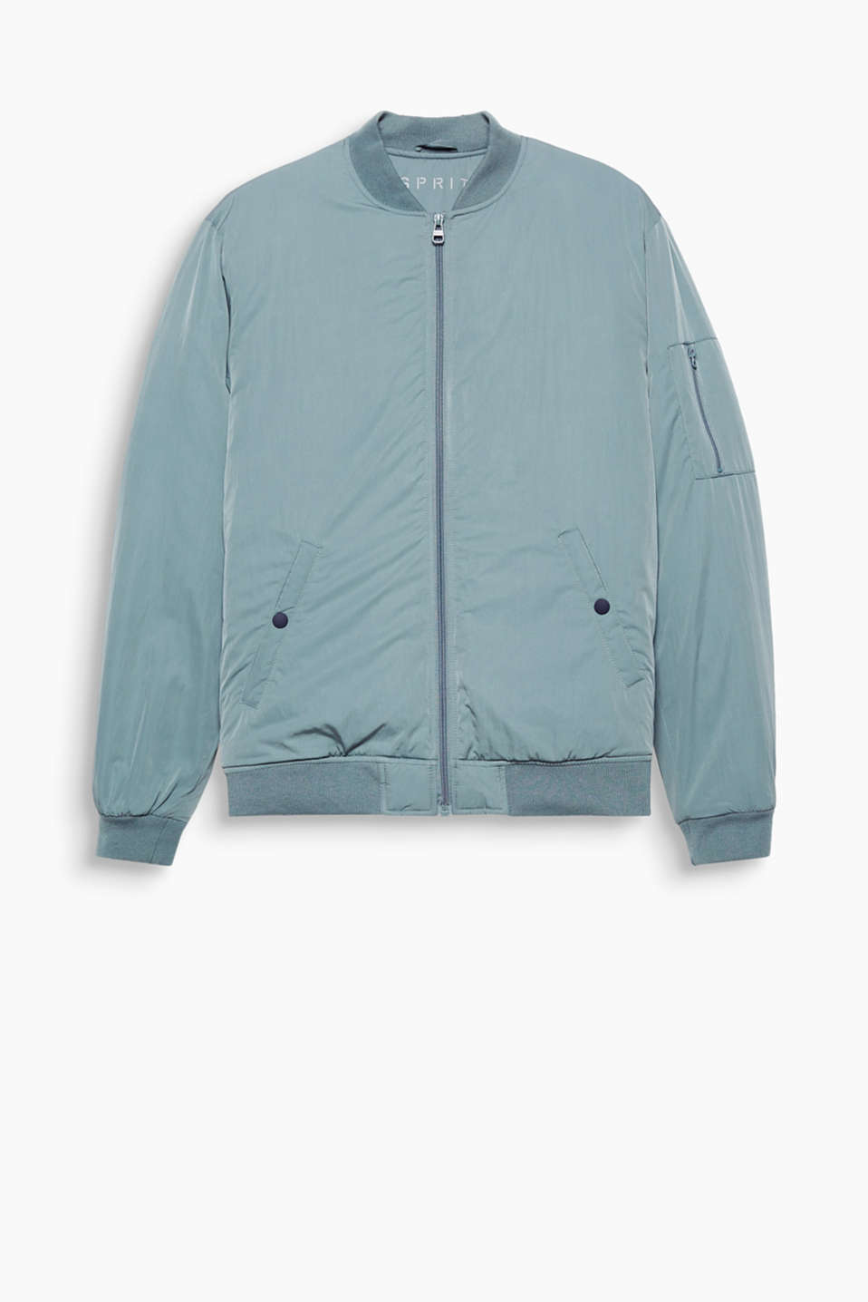An urban classic, even for colder days! Bomber jacket with warming padding