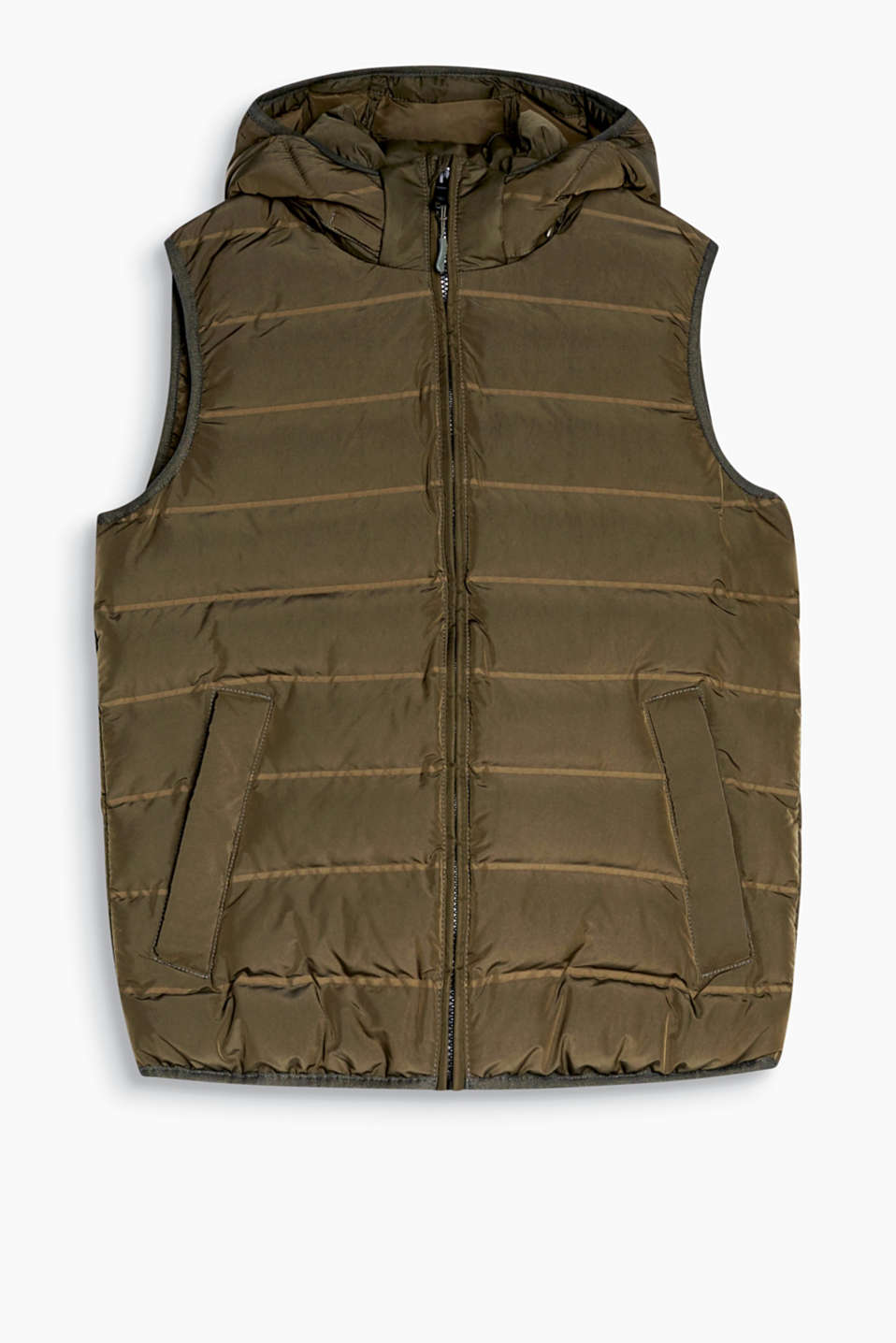 A fabulous basic! You can incorporate this body warmer into a wide range of autumn and winter outfits.