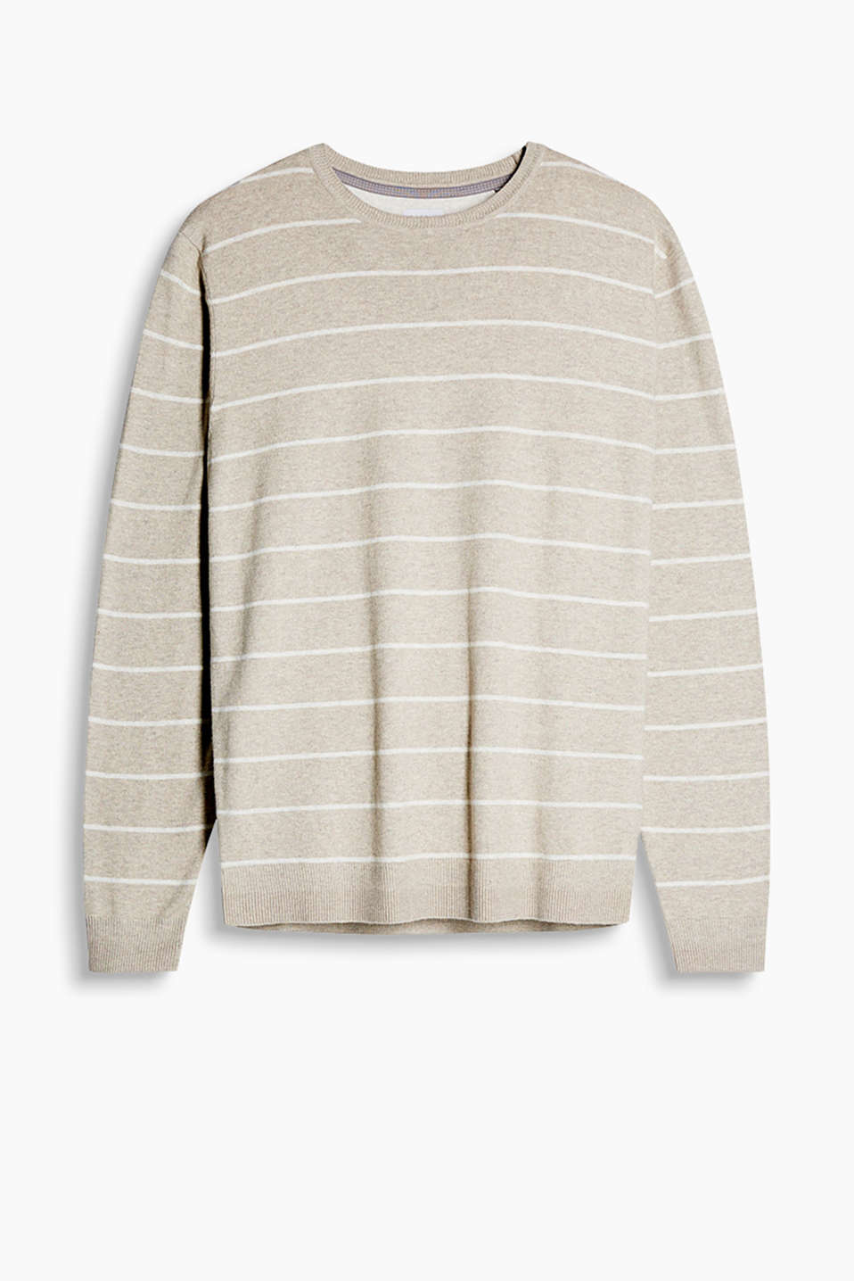 This warm, striped jumper with a percentage of cashmere is a great winter basic which is great to mix and match