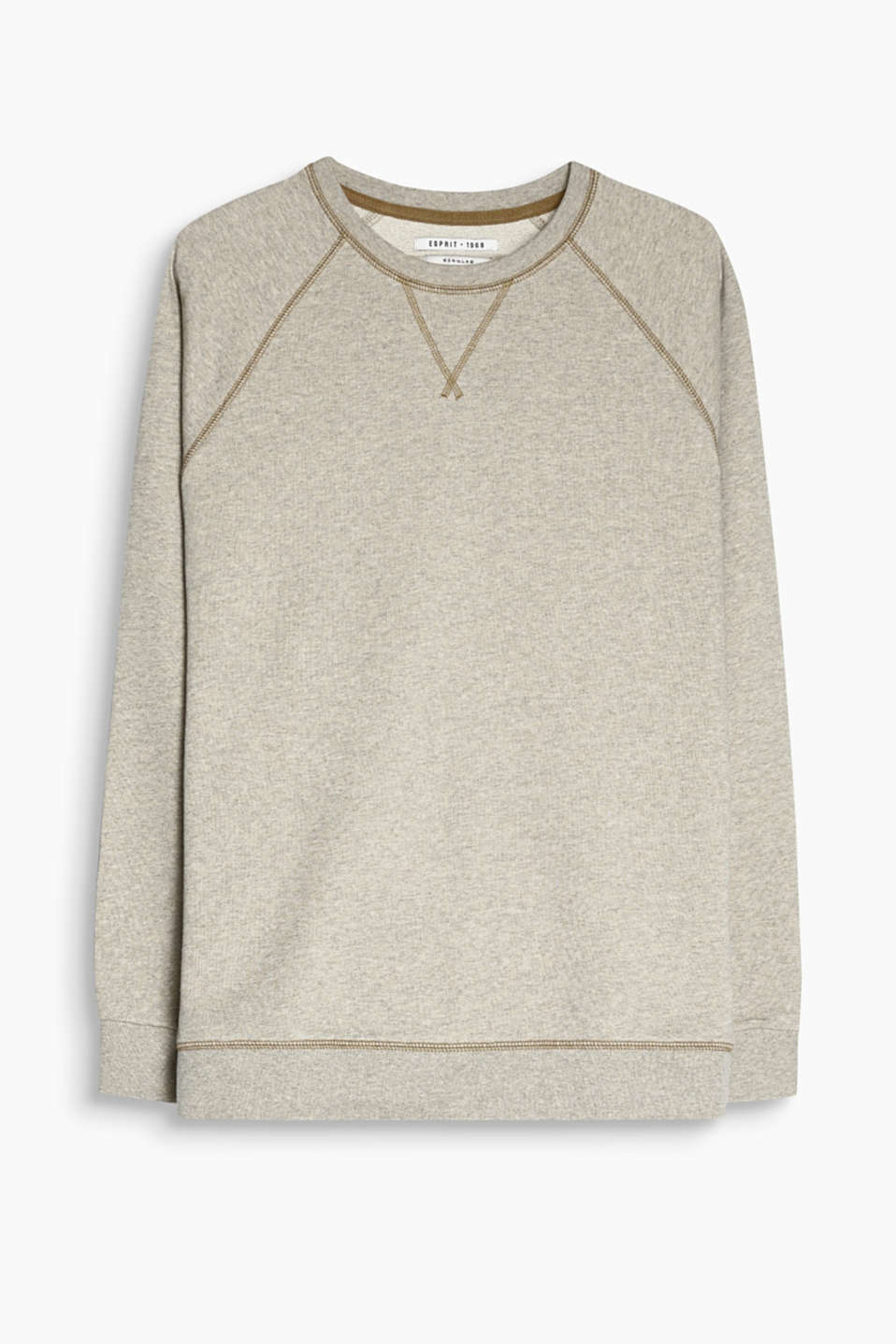 Ein sportives Fashion Essential: Sweater mit dekorativen Flatlock-Nähten, 100% Baumwolle