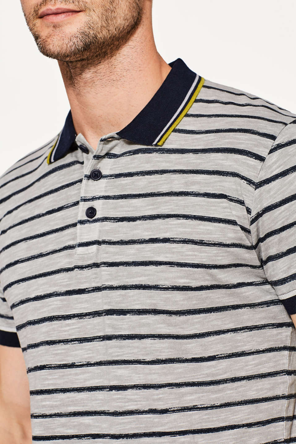 Slub jersey polo shirt in 100% cotton