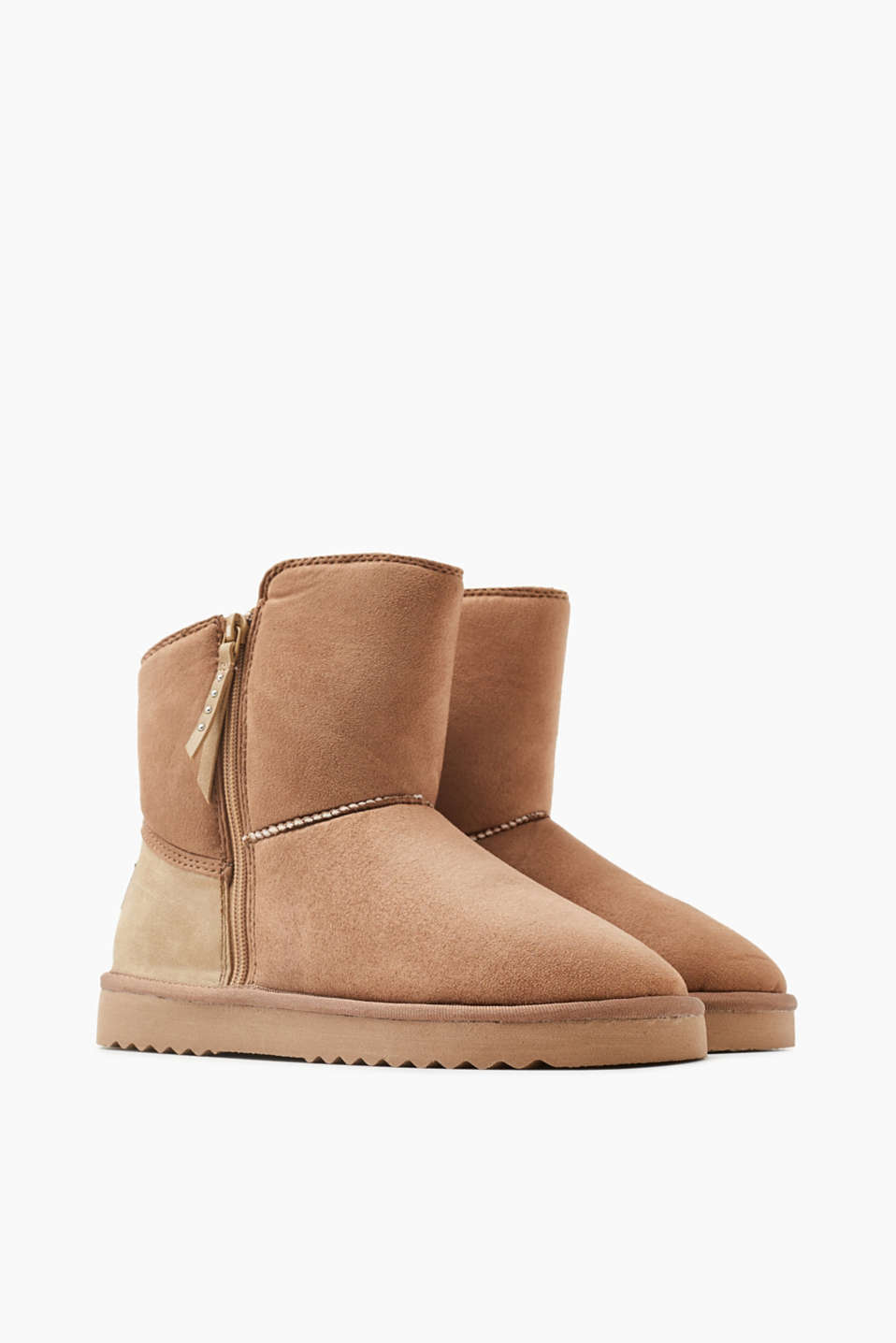 Faux nubuck winter boots