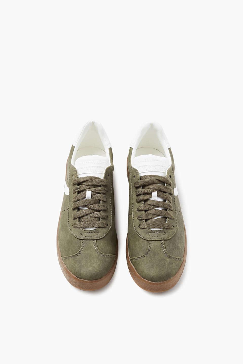 esprit trend sneaker in nubuk optik im online shop kaufen. Black Bedroom Furniture Sets. Home Design Ideas