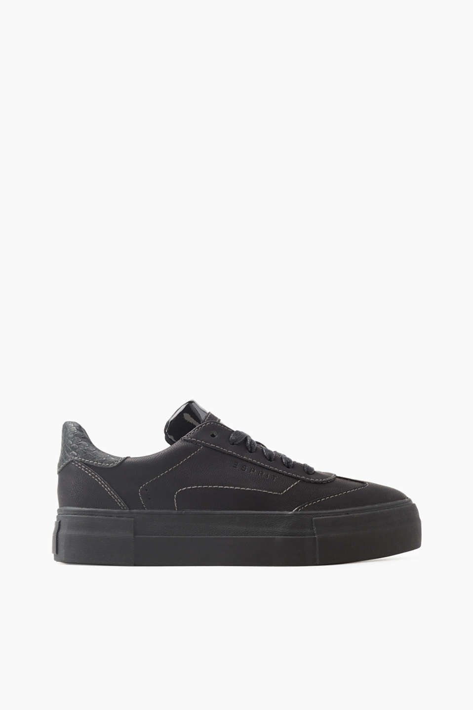 Esprit - Plateausneaker in Leder-Optik