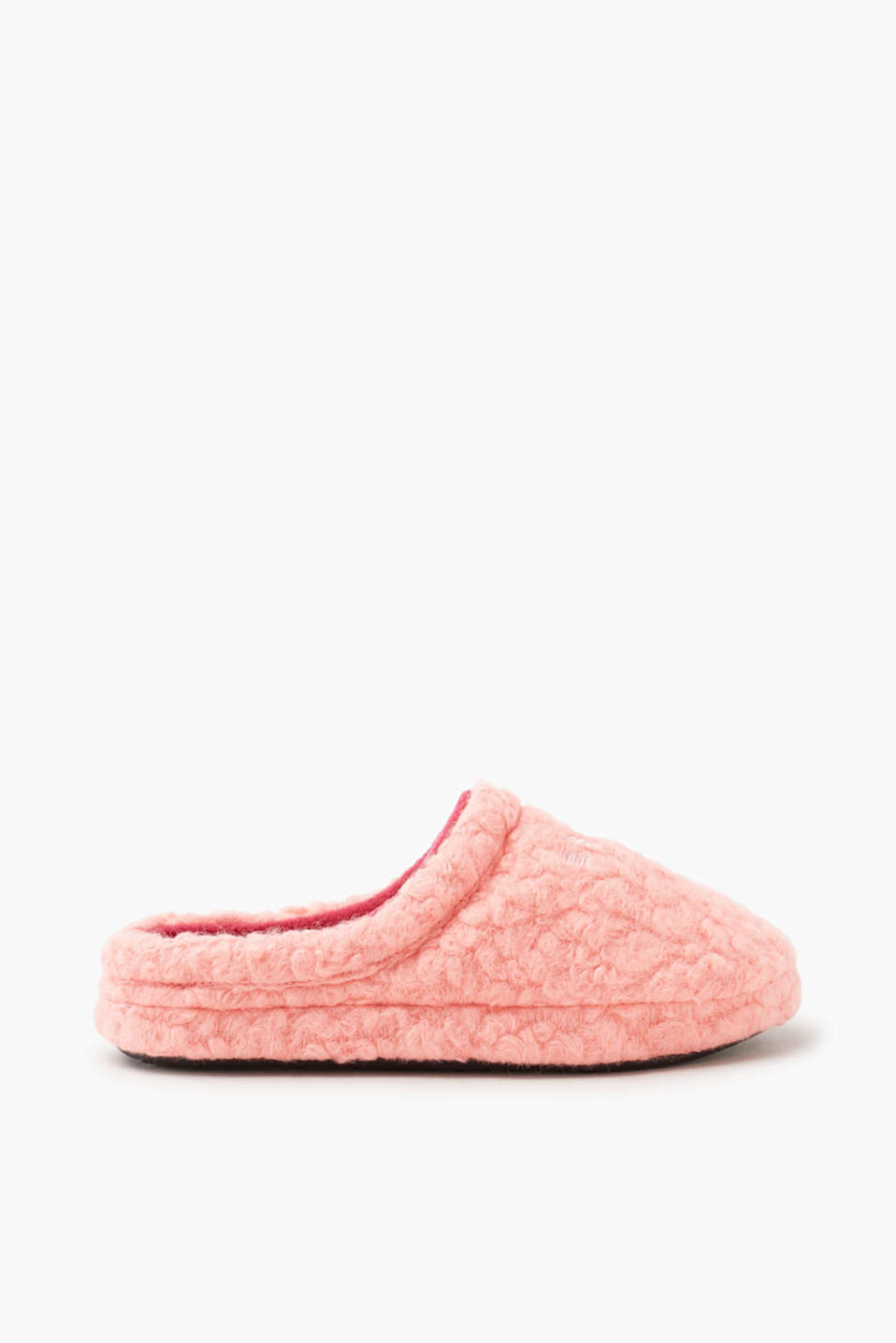 Esprit - Fleece slippers with logo appliqué