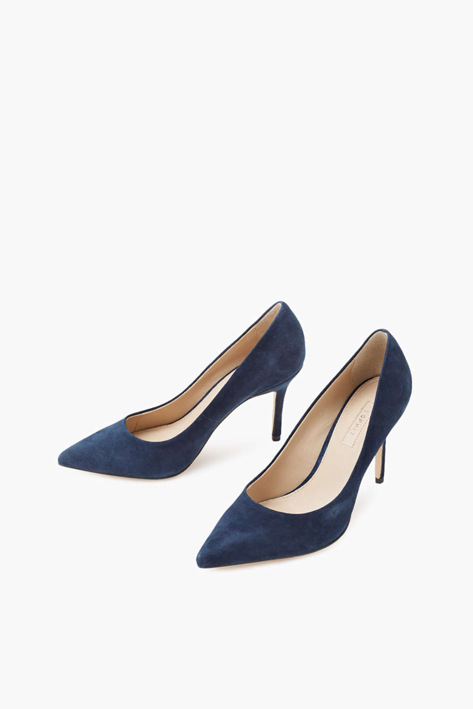 Pointed court shoes in soft kid leather