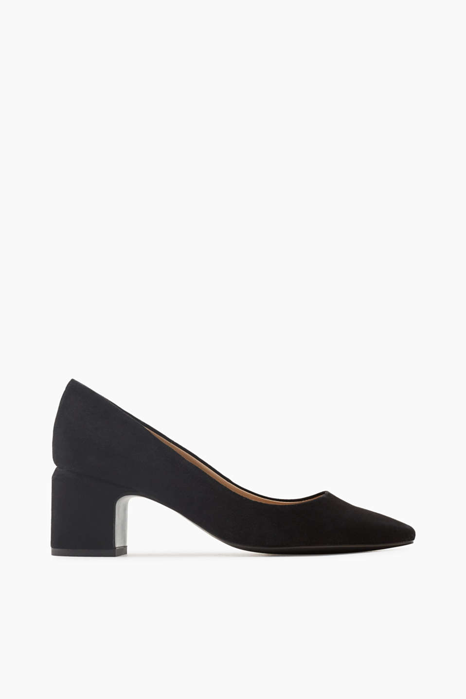 Esprit - Kid leather court shoes with a block heel