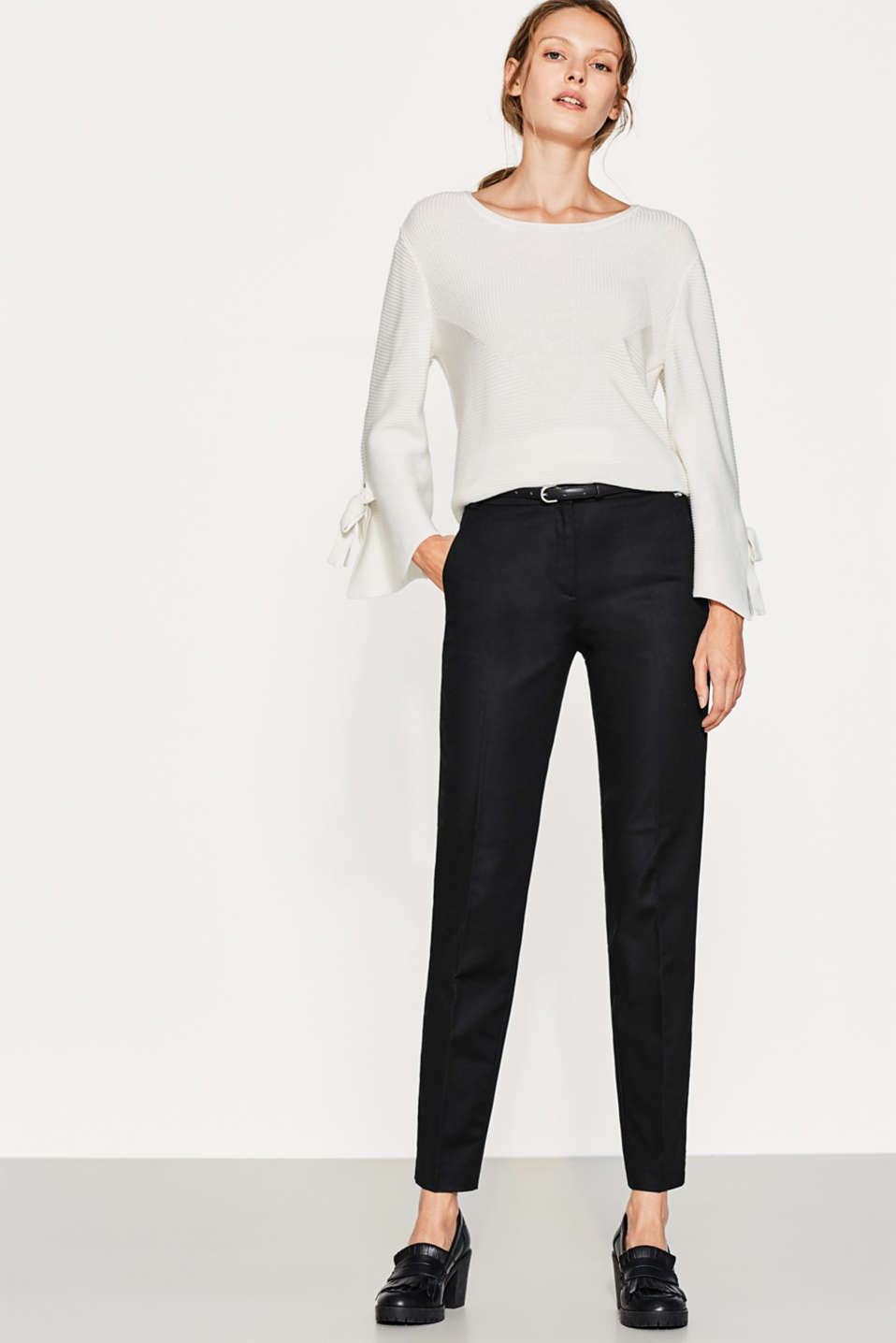 Pantalon scintillant en coton stretch