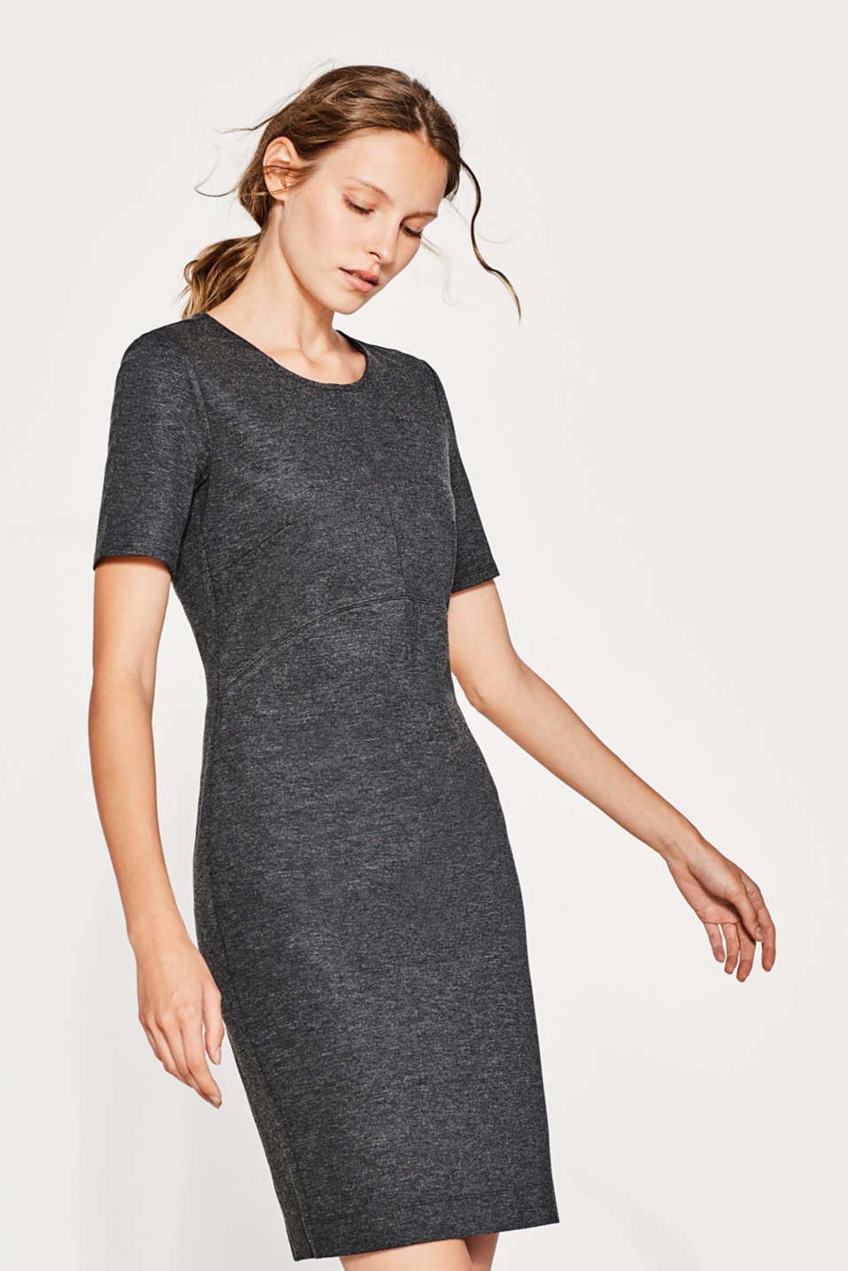 Esprit - Robe fourreau en jersey stretch dense