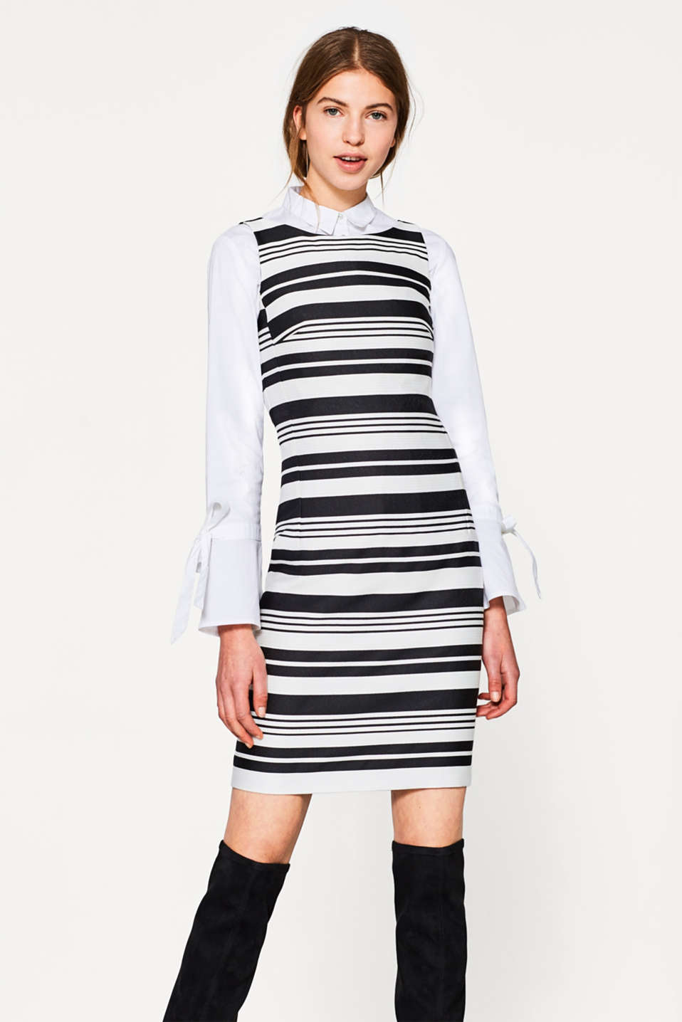 Esprit - Fitted striped shift dress