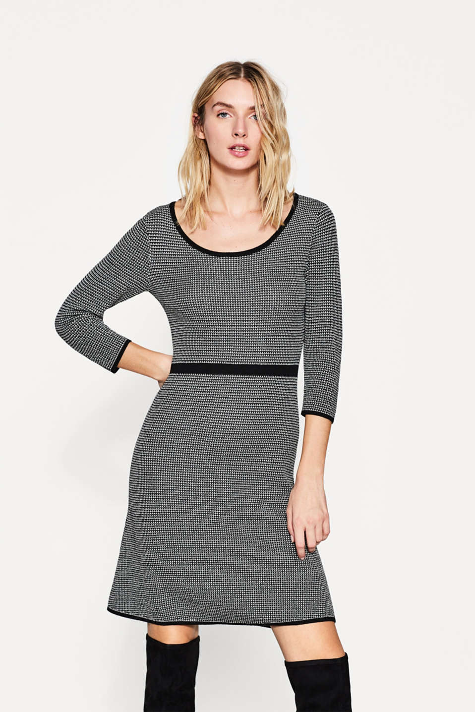 Esprit - Knit dress with a textured pattern