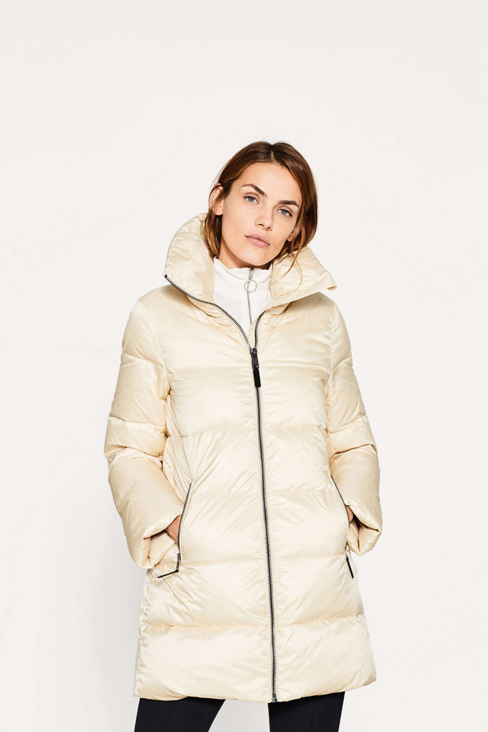 Esprit - Down coat with a high stand-up collar