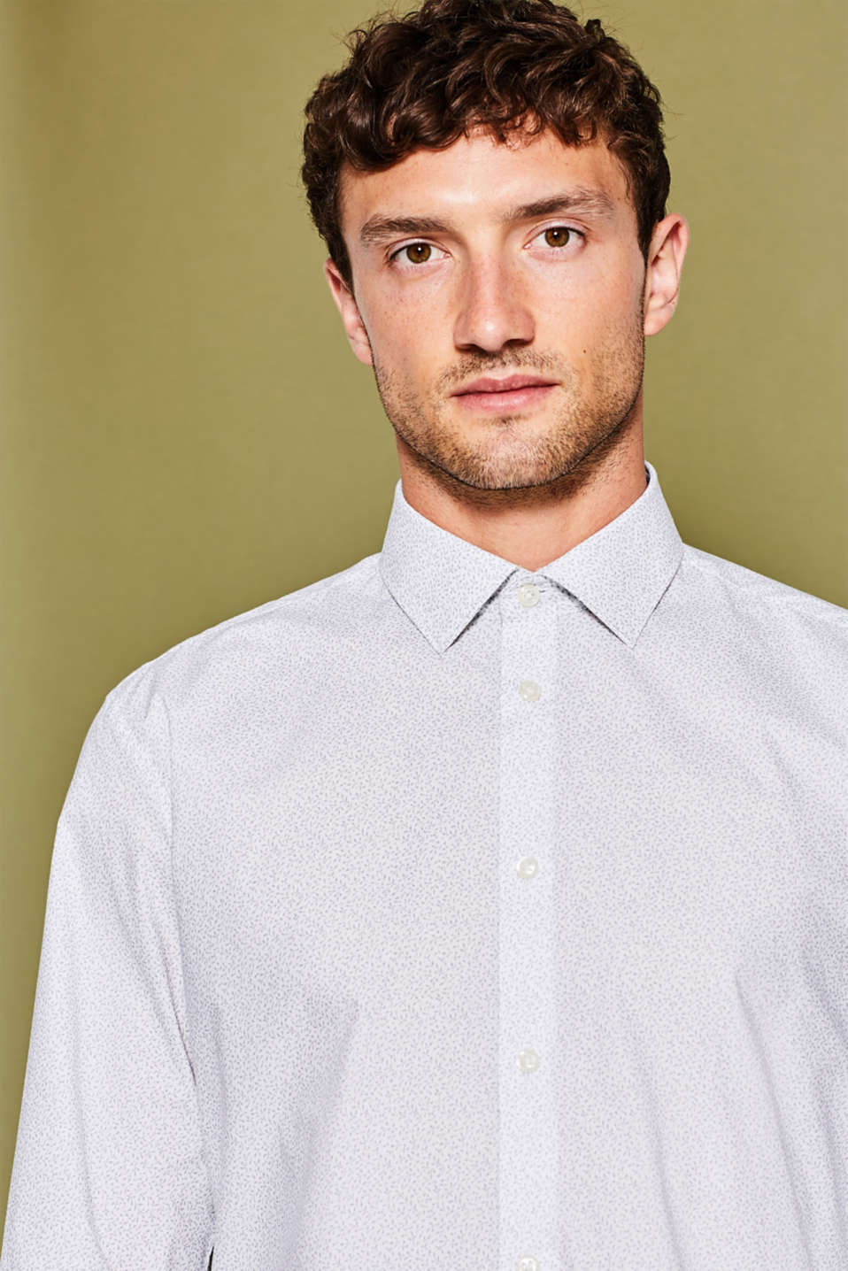 Esprit - Subtly printed shirt, 100% cotton