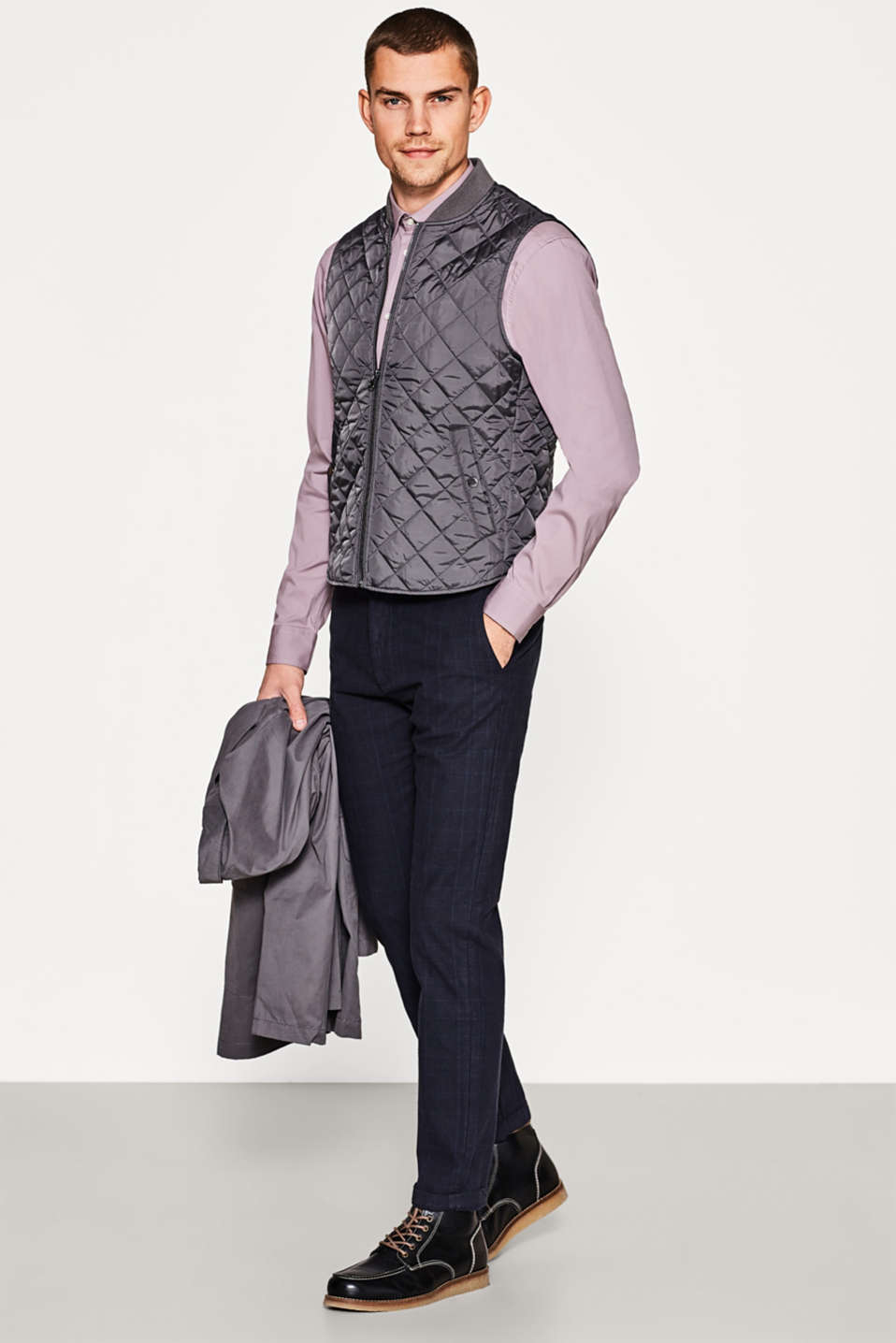 2-in-1 coat + integral, quilted bodywarmer