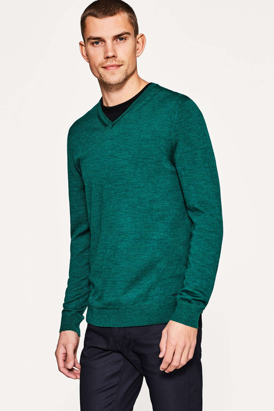 Esprit - Elegant jumper made of pure merino wool