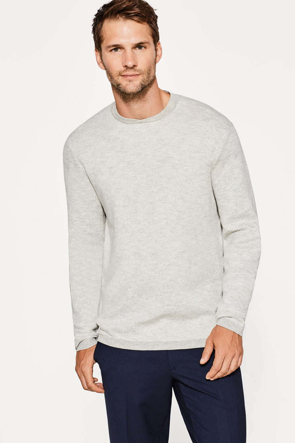 Esprit - Sweat-shirt à rayures 100 % coton