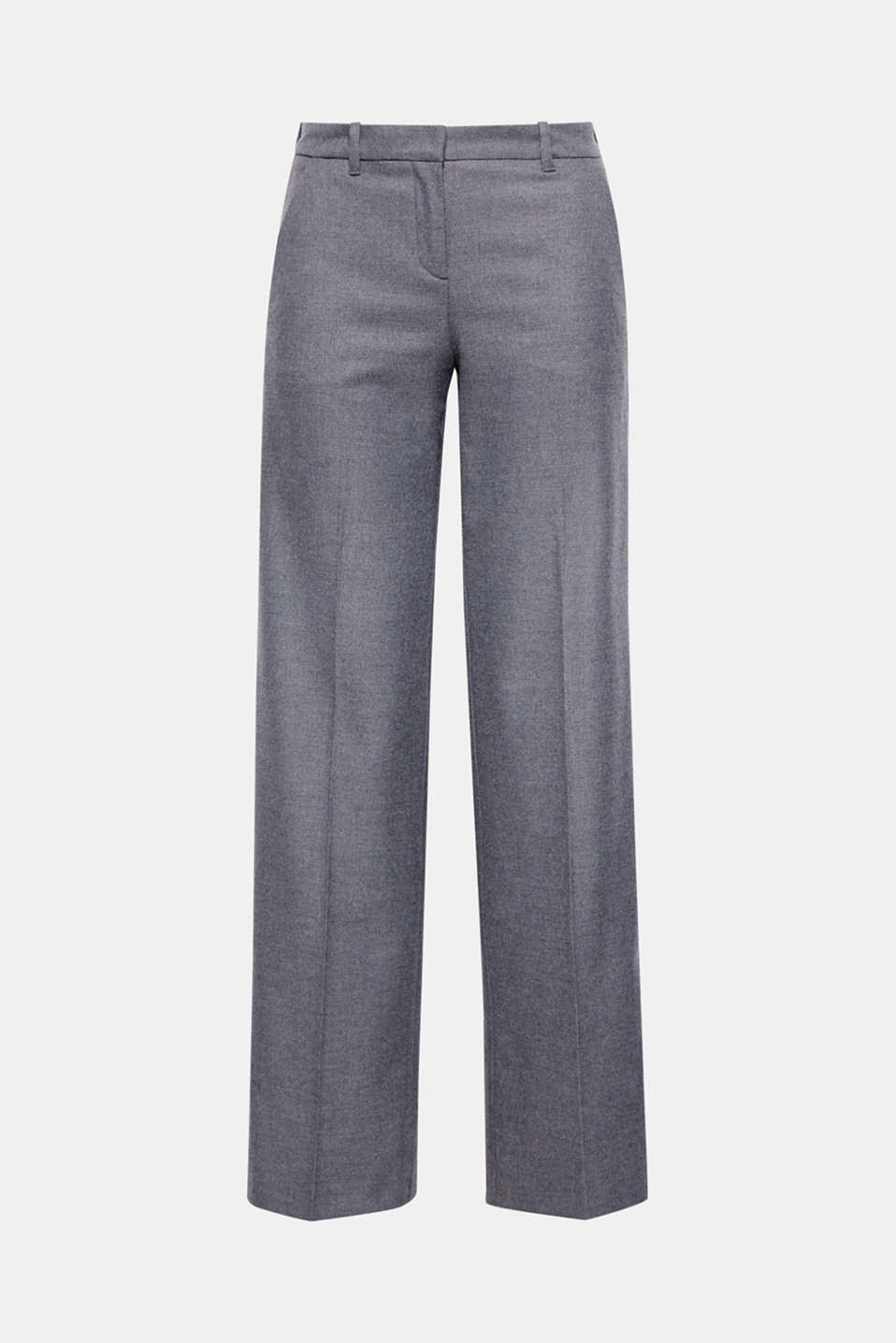 These smart trousers with a woolly finish and loose hem width are perfect for the office or for going out on the evening.