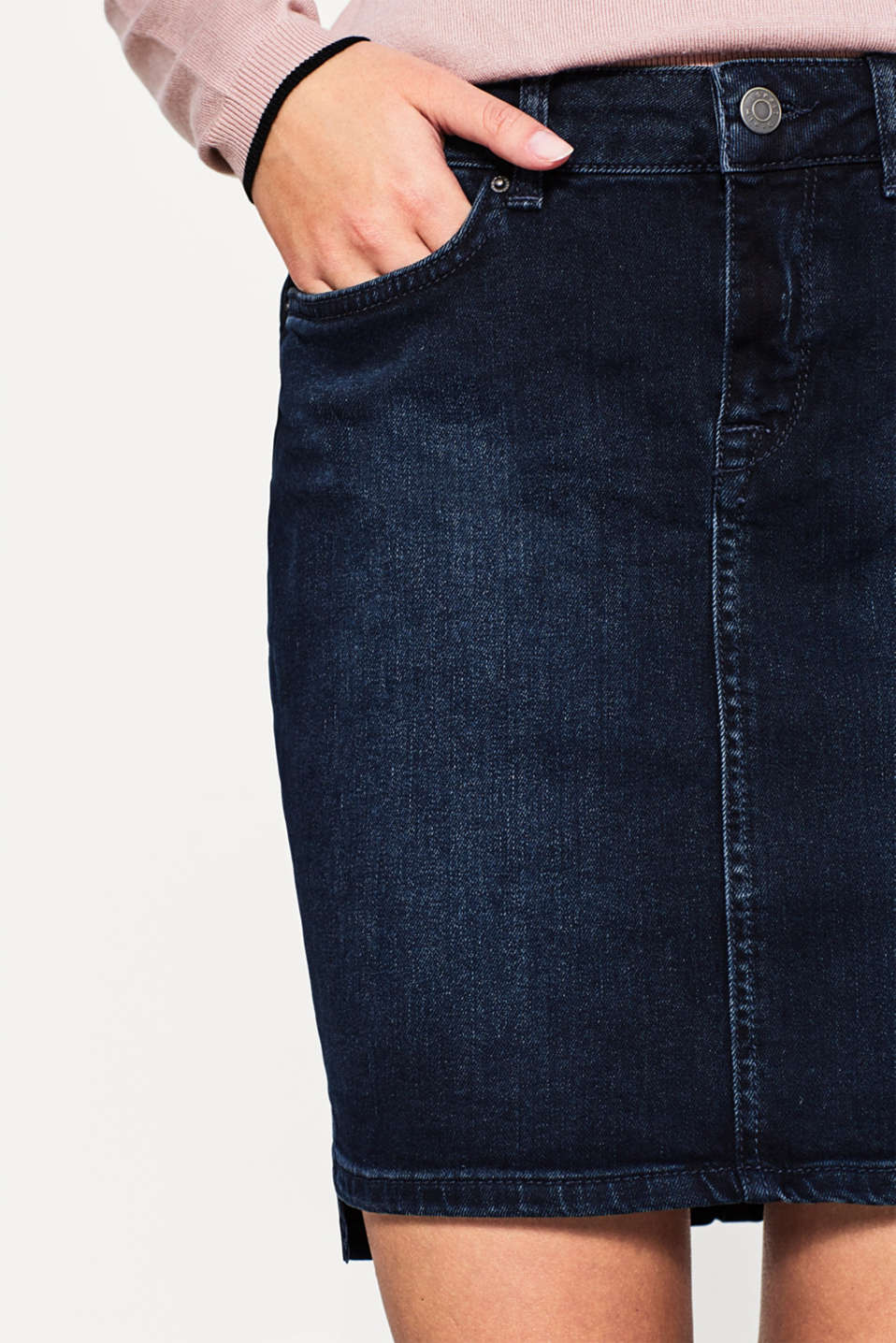 Esprit - Stretch cotton denim skirt