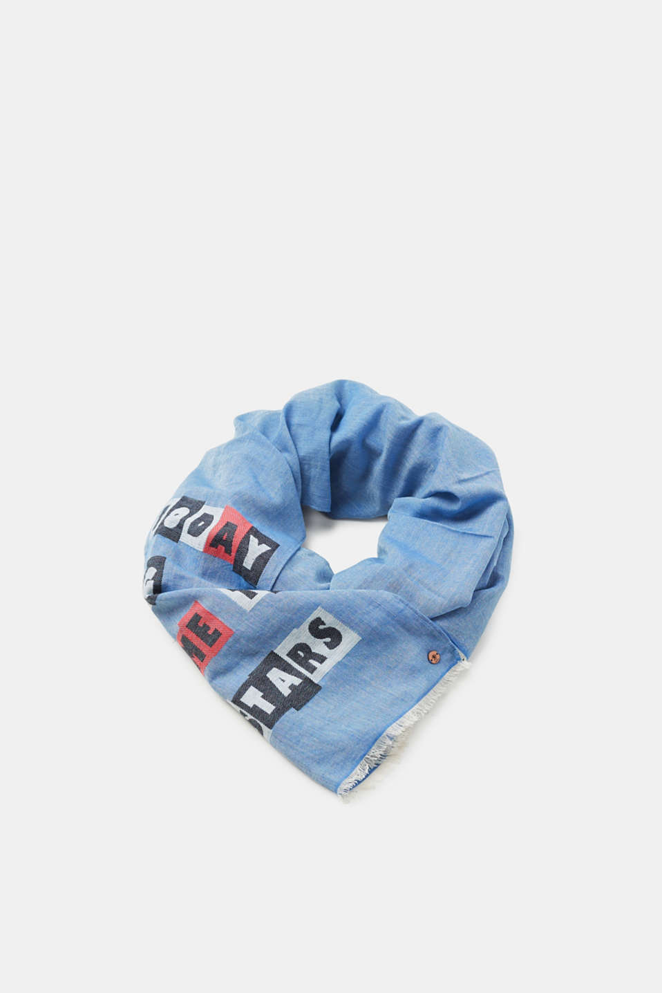 edc - Statement scarf with a frilly trim
