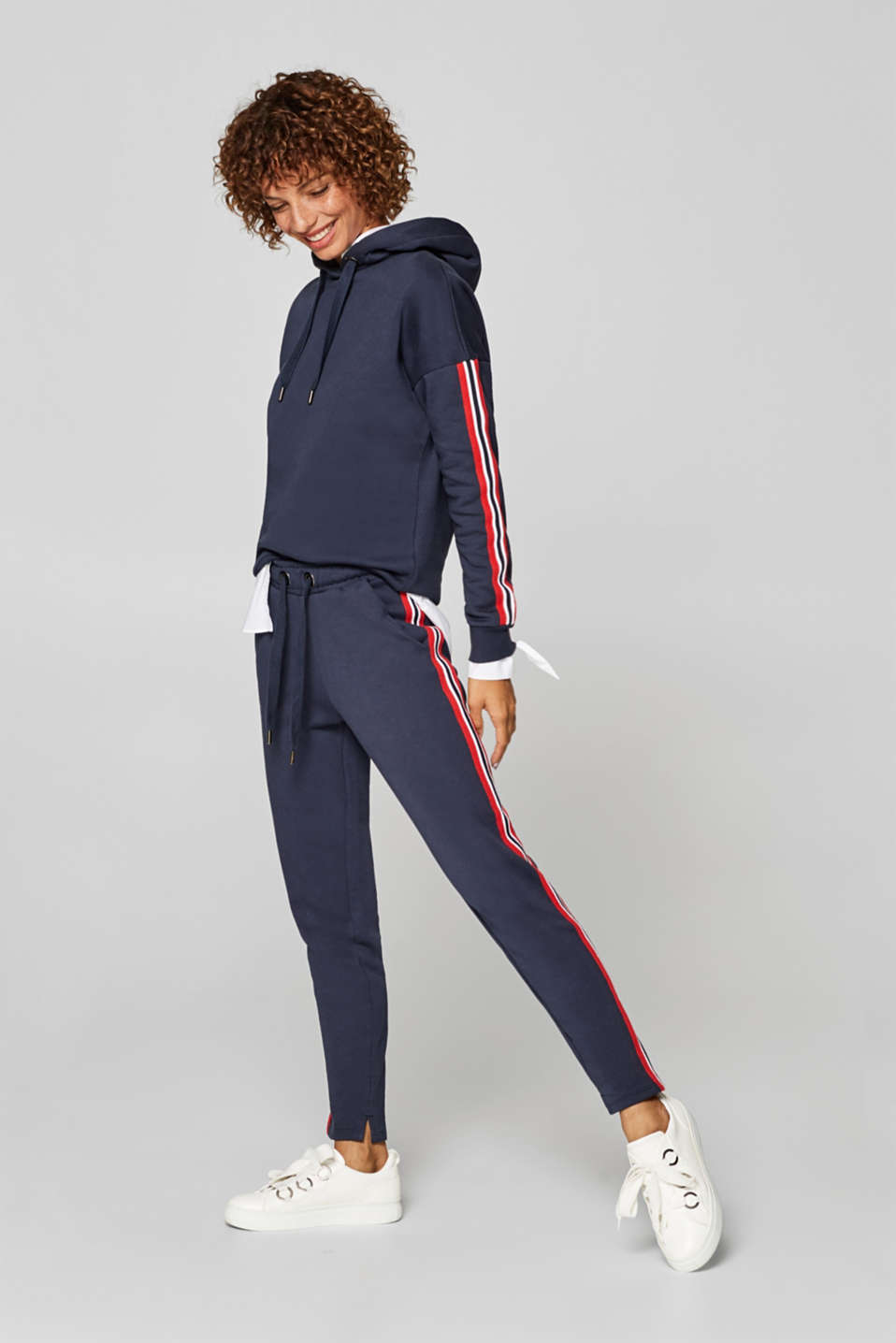 edc - Sweatshirt tracksuit bottoms with racing stripes