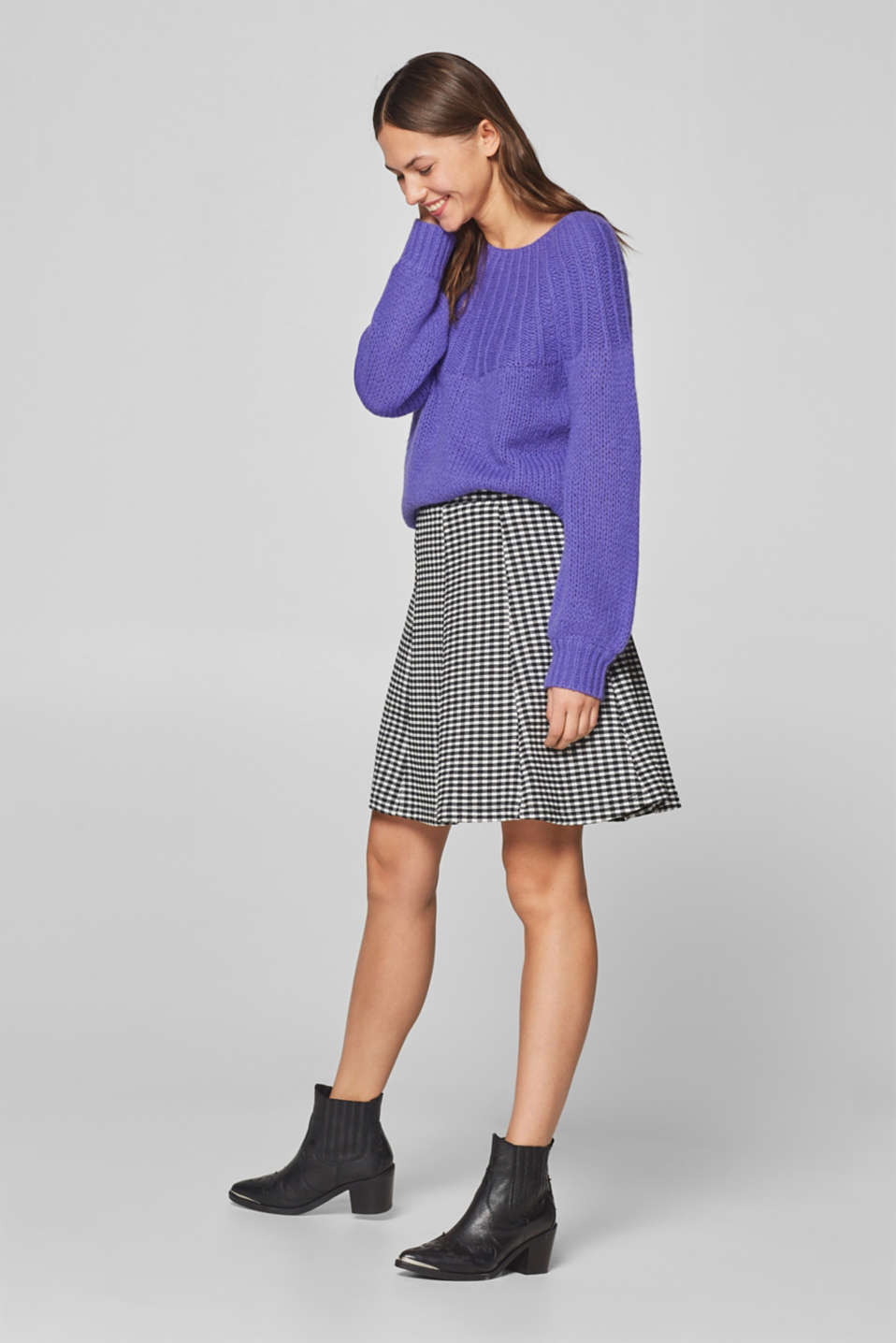 edc - Swirling stretch jersey skirt