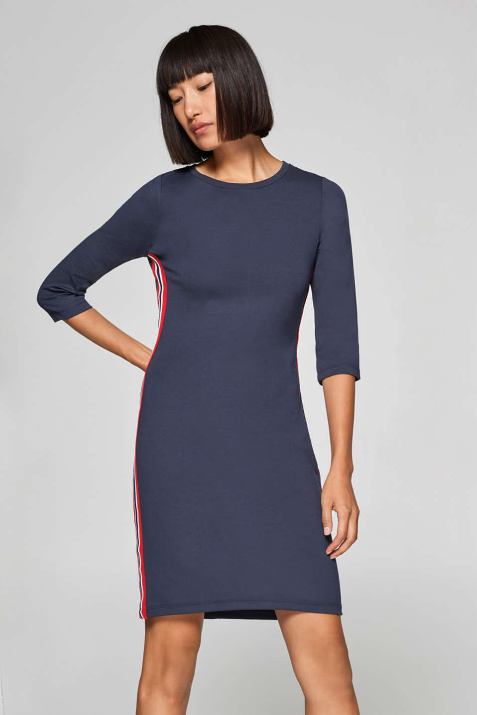 edc - Jersey stretch dress with racing stripes