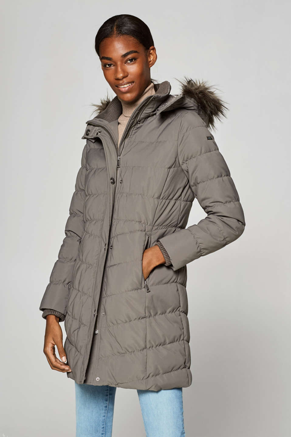 edc - Down coat with a detachable hood