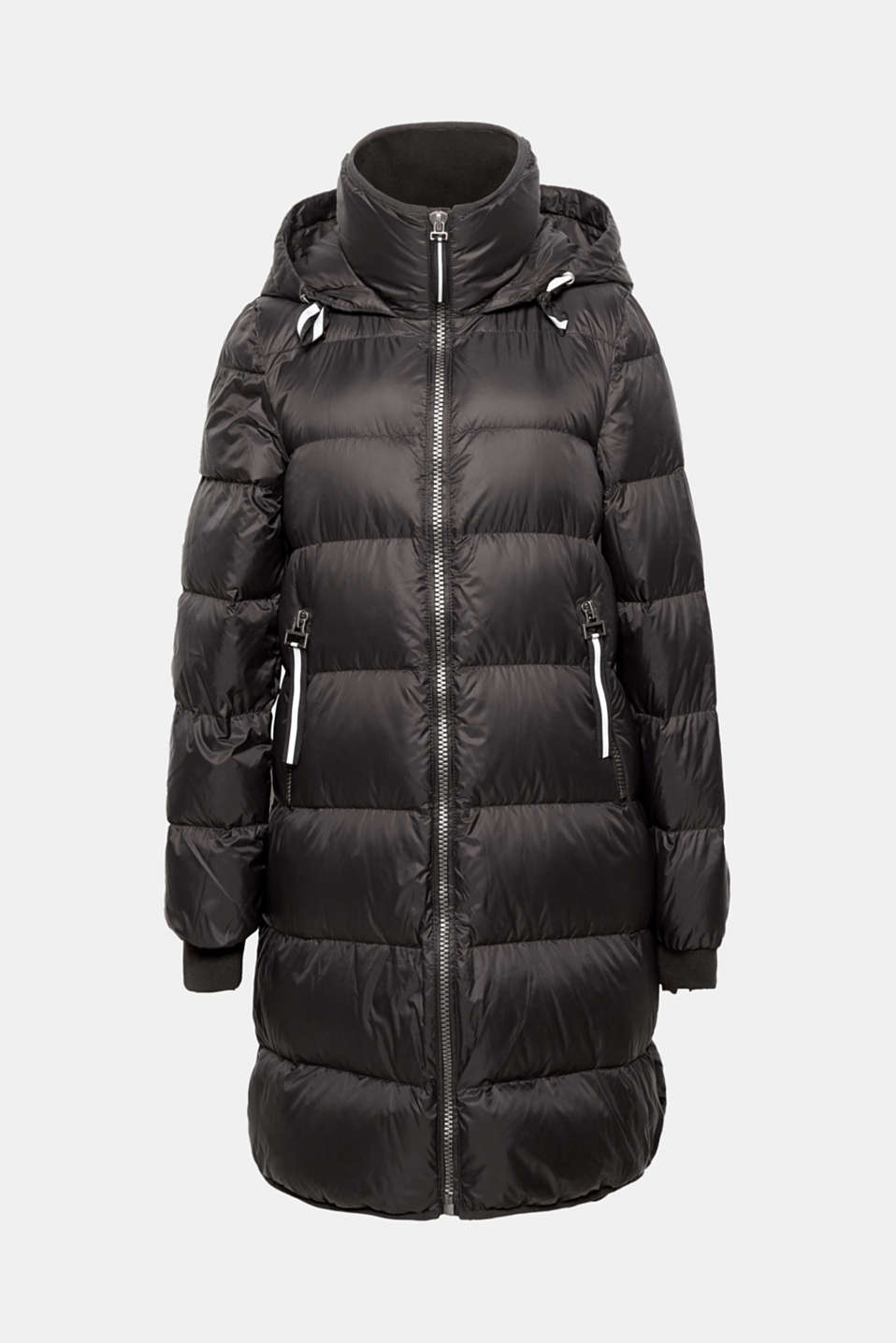 This quilted jacket with an RDS-certified down/feather filling, hood and woven tape zip-pulls is a real highlight, it's also super lightweight and casually sporty!