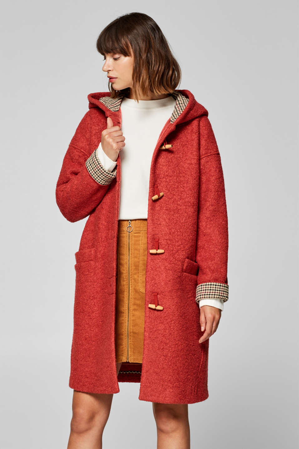 edc - Duffle coat in a bouclé look
