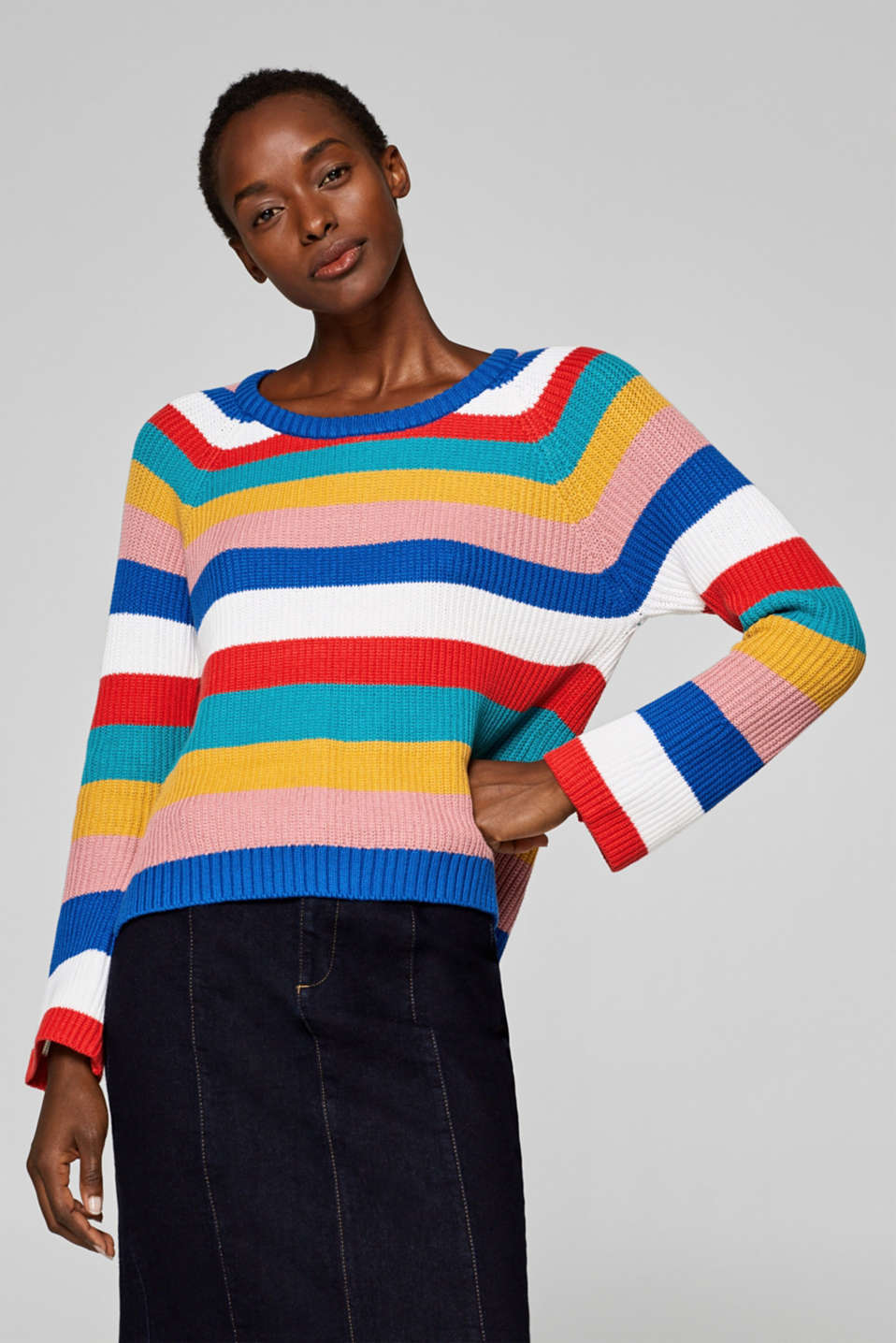 edc - Ribbed jumper with on-trend details