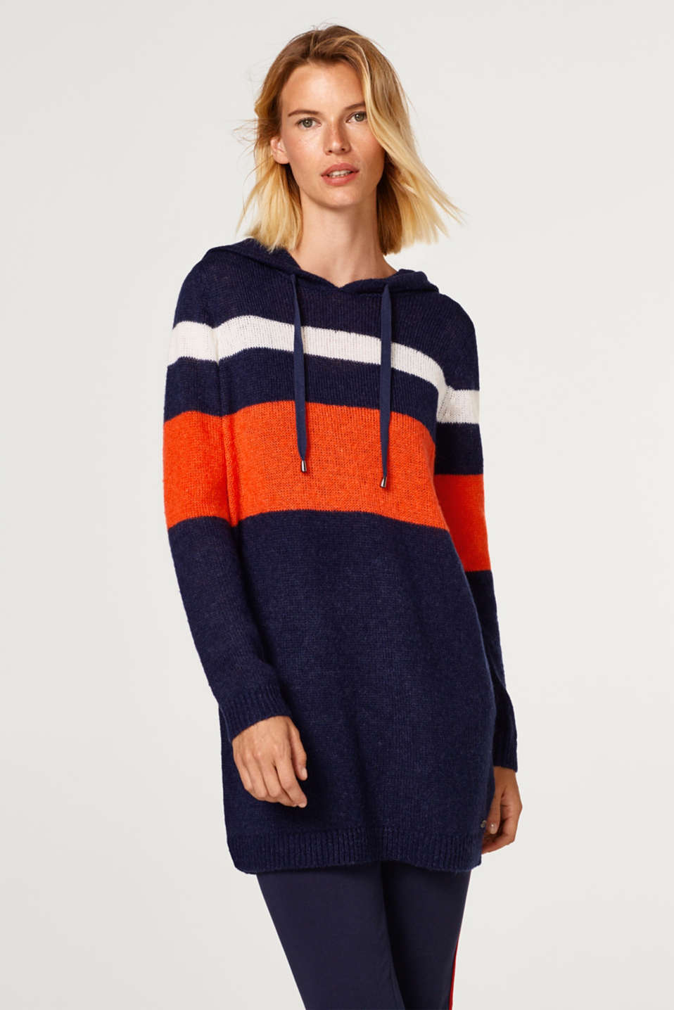 edc - With wool: long colour block jumper