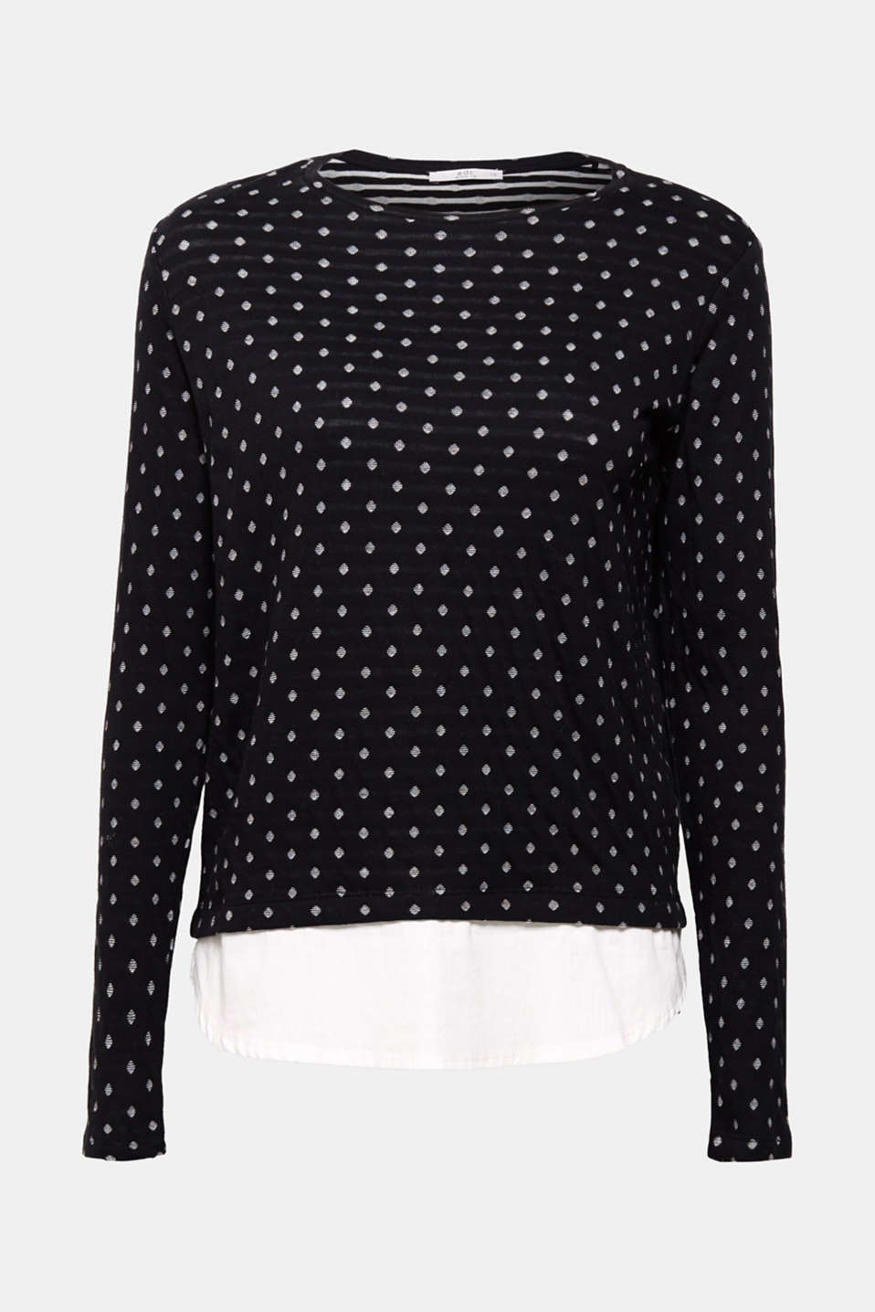 This layered long sleeve top with a cloth hem is the perfect essential!