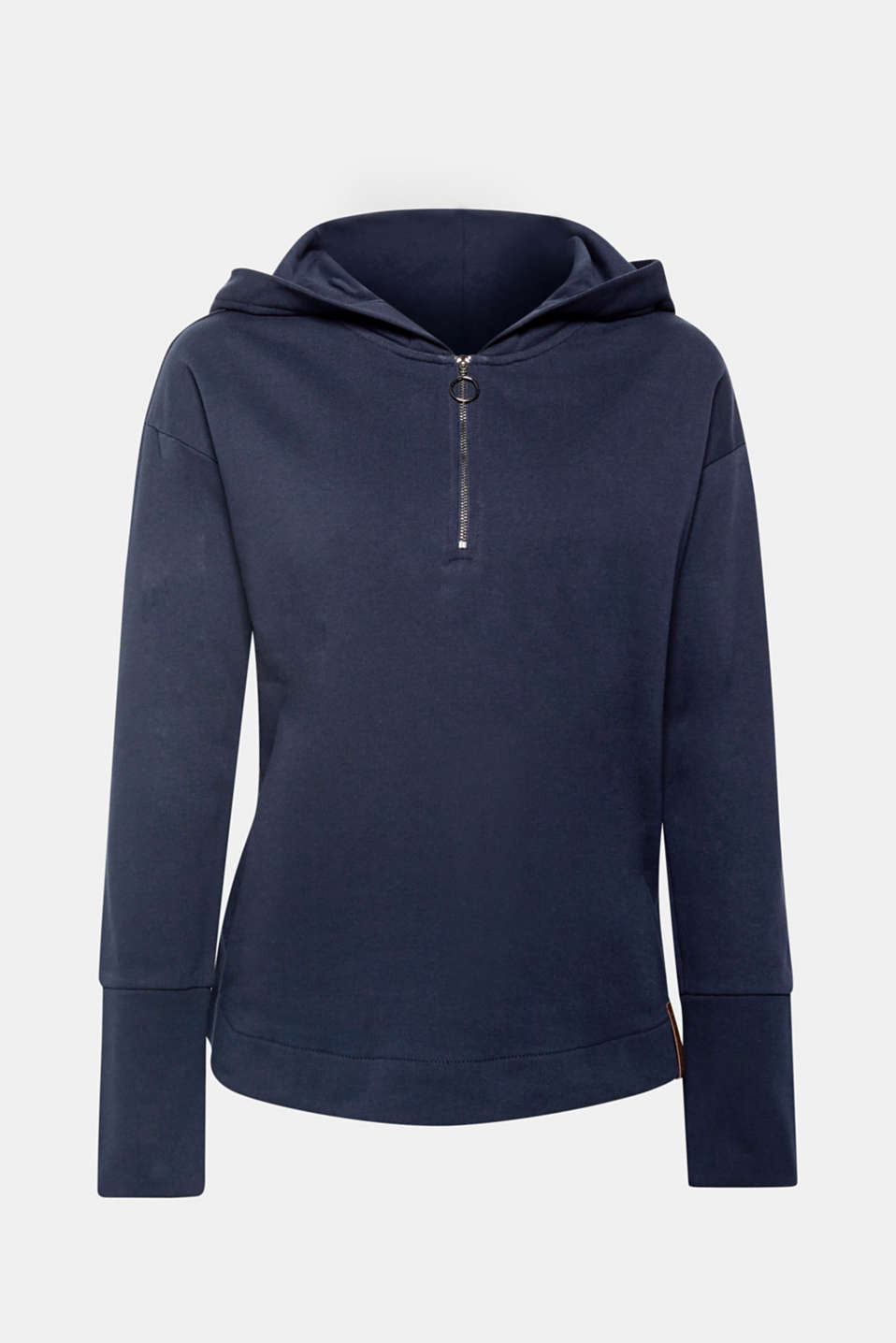 Relax in this lightweight, pure cotton hoodie with a softly brushed interior and a slightly flared silhouette!